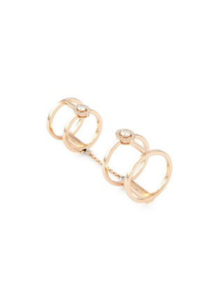 6f70acf01376da MESSIKA 'Glam'Azone Double' diamond 18k rose gold chain ring
