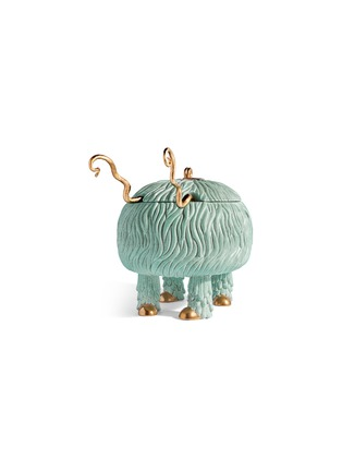 Detail View - Click To Enlarge - L'OBJET - x Haas Brothers Fox Salad Monster serving bowl set – Blue-Green
