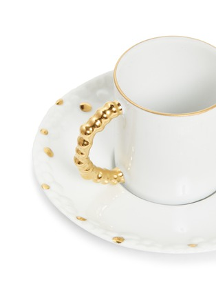 Detail View - Click To Enlarge - L'OBJET - x Haas Brothers Mojave espresso cup and saucer set – Gold