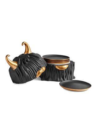 - L'OBJET - x Haas Brothers Lynda box and plate set –Black