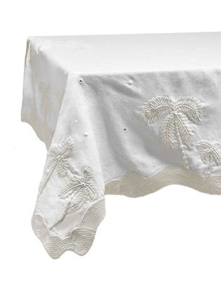 Main View - Click To Enlarge - L'OBJET - x Haas Brothers Joshua Tree table cloth – White