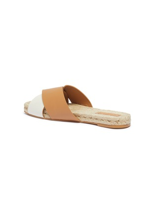 - MERCEDES CASTILLO - 'Xane' colourblock cross strap leather espadrille slide sandals