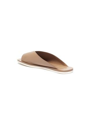 - MERCEDES CASTILLO - 'Geri' V-throat leather slide sandals