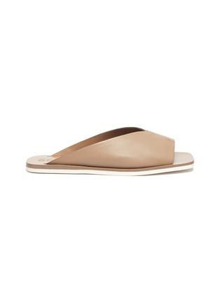 Main View - Click To Enlarge - MERCEDES CASTILLO - 'Geri' V-throat leather slide sandals