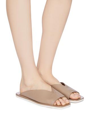 Figure View - Click To Enlarge - MERCEDES CASTILLO - 'Geri' V-throat leather slide sandals