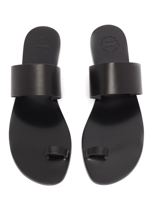 Detail View - Click To Enlarge - ATP ATELIER - 'Astrid' toe ring leather slide sandals