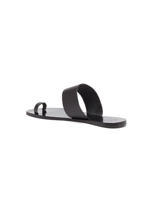 - ATP ATELIER - 'Astrid' toe ring leather slide sandals