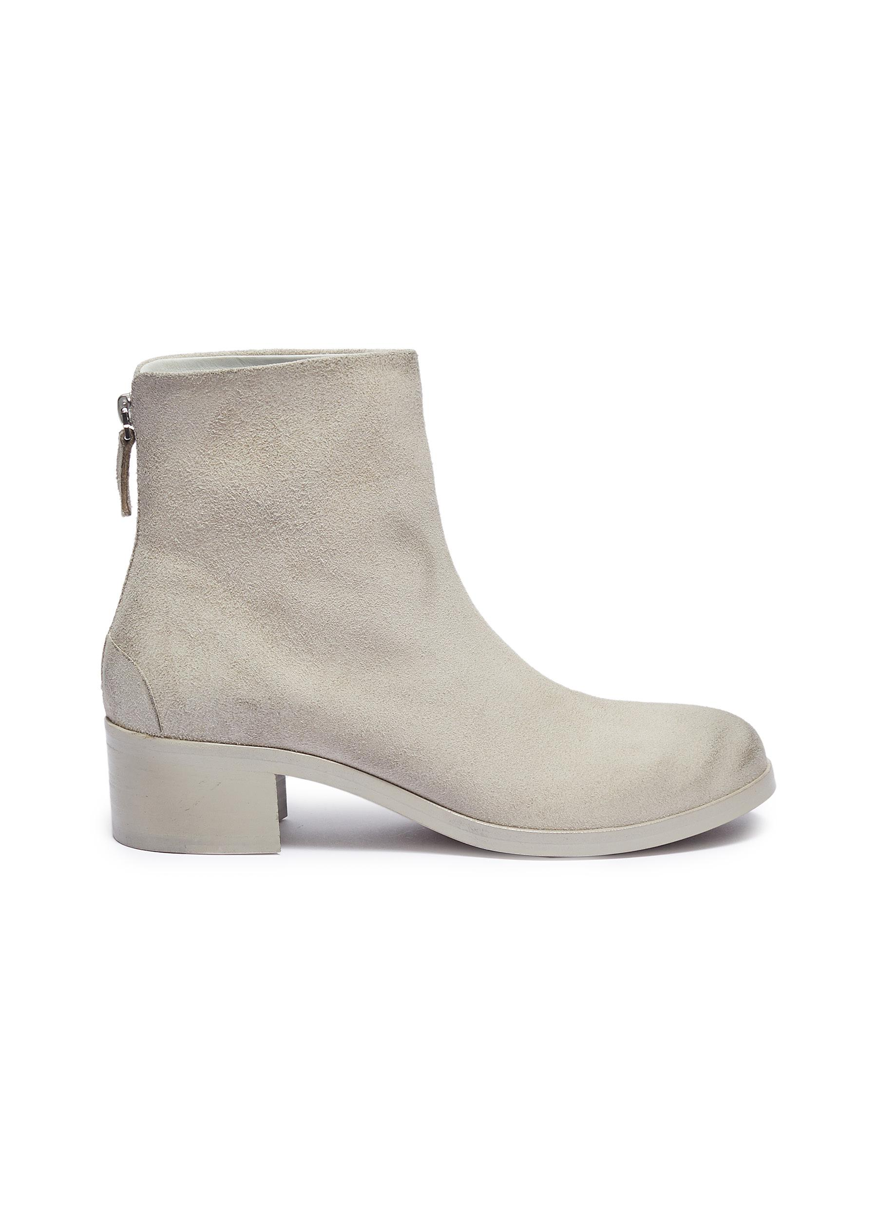 Tronch distressed leather ankle boots by Marsèll