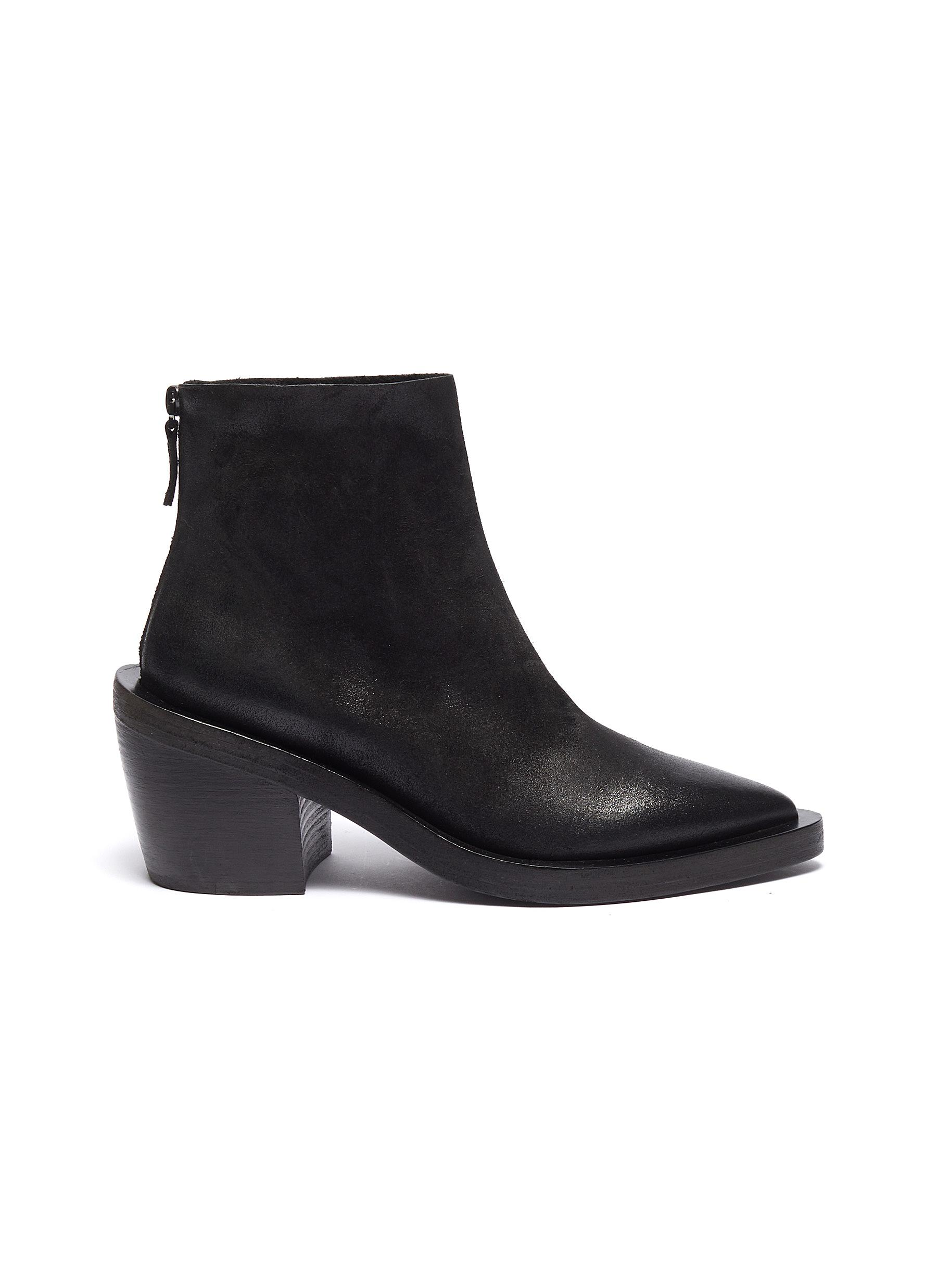 Coneros distressed leather ankle boots by Marsèll
