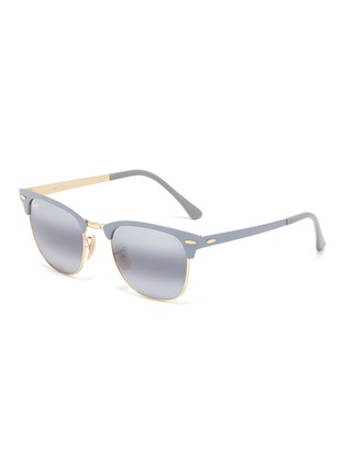 Main View - Click To Enlarge - RAY-BAN - 'Clubmaster' metal square sunglasses