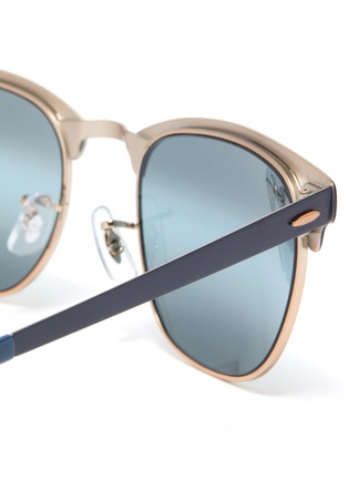 Detail View - Click To Enlarge - RAY-BAN - 'Clubmaster' metal square sunglasses