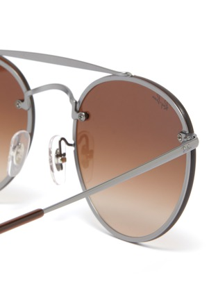 Detail View - Click To Enlarge - Ray-Ban - 'Blaze' metal round sunglasses