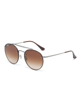 Main View - Click To Enlarge - Ray-Ban - 'Blaze' metal round sunglasses