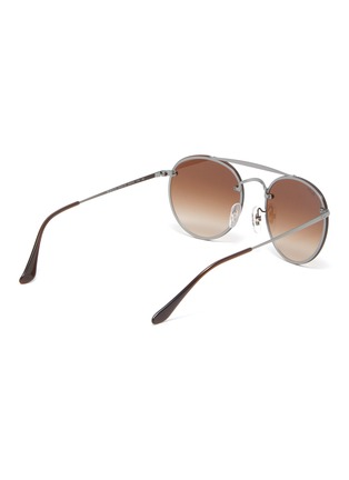 Figure View - Click To Enlarge - Ray-Ban - 'Blaze' metal round sunglasses