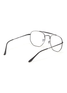 Ray-Ban 'Marshal' metal hexagonal aviator optical glasses