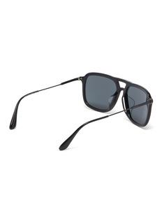 Prada Metal temple acetate square sunglasses