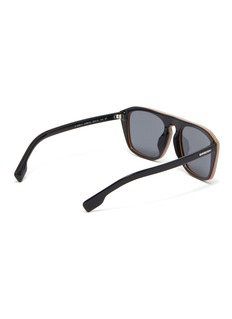 Burberry Stripe acetate square sunglasses