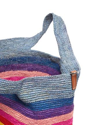 Detail View - Click To Enlarge - LOEWE - x Paula's Ibiza raffia slit handle bag