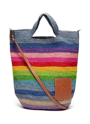 Main View - Click To Enlarge - LOEWE - x Paula's Ibiza raffia slit handle bag