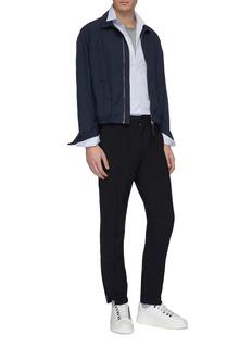 Lanvin Contrast trim collar stripe shirt