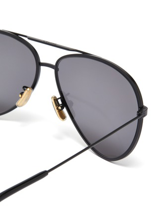 Detail View - Click To Enlarge - CELINE - Metal aviator sunglasses