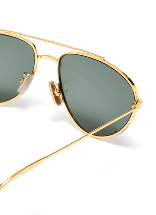 1094ec5cb574 Detail View - Click To Enlarge - CELINE - Metal narrow aviator sunglasses