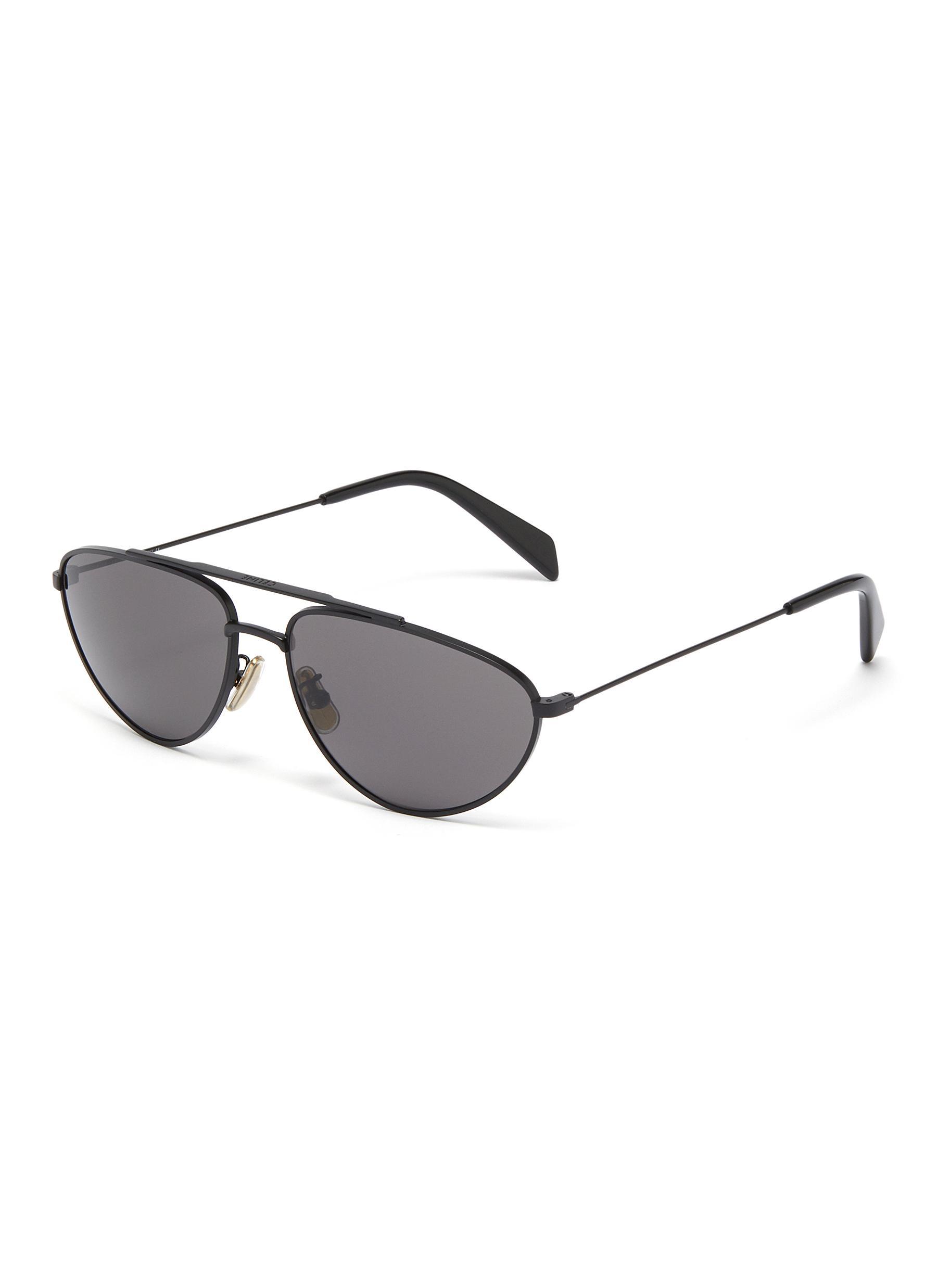 26691e5f7ad1 CELINE   Metal narrow aviator sunglasses   Men   Lane Crawford