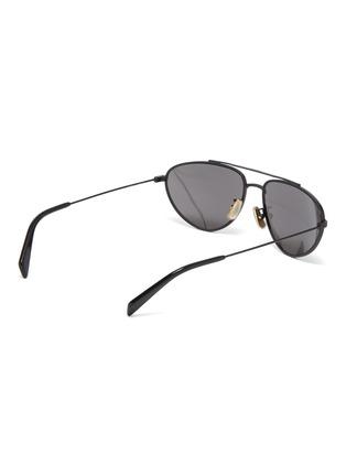41eba9adee97 Figure View - Click To Enlarge - CELINE - Metal narrow aviator sunglasses