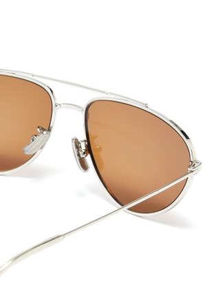 Detail View - Click To Enlarge - CELINE - Metal narrow aviator sunglasses
