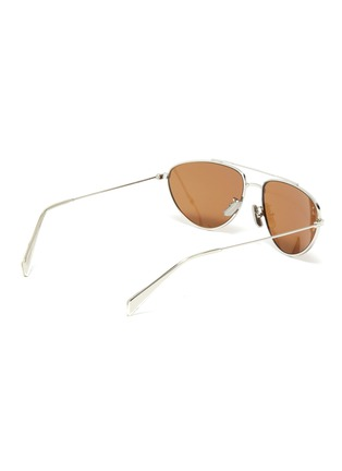 Figure View - Click To Enlarge - CELINE - Metal narrow aviator sunglasses