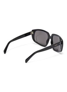 CELINE Acetate angular frame sunglasses