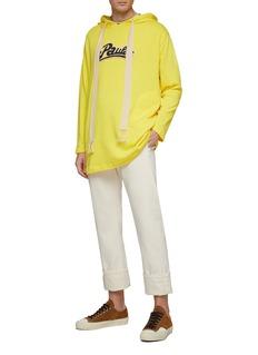 LOEWE x Paula's Ibiza logo chenille patch long hoodie