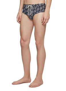 LOEWE x Paula's Ibiza logo print swim briefs