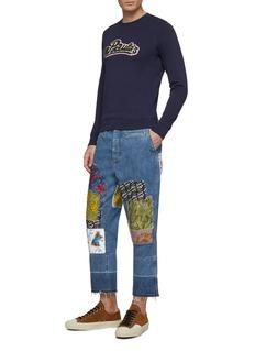 LOEWE x Paula's Ibiza patchwork fisherman jeans