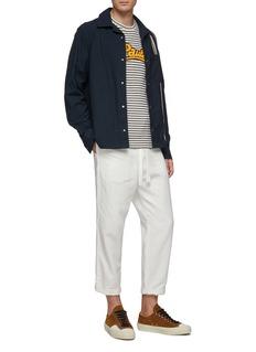 LOEWE x Paula's Ibiza logo chenille patch stripe cotton-linen T-shirt