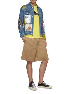 LOEWE x Paula's Ibiza patchwork denim jacket