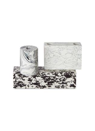 Main View - Click To Enlarge - TOM DIXON - Swirl candelabra –Black/White