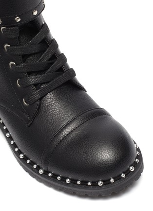 Detail View - Click To Enlarge - SAM EDELMAN - 'Polly Jennifer' kids studded leather combat boots