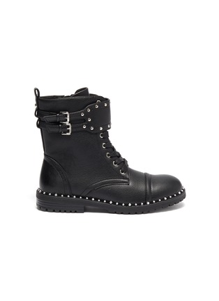 Main View - Click To Enlarge - SAM EDELMAN - 'Polly Jennifer' kids studded leather combat boots