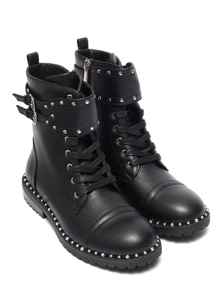 Figure View - Click To Enlarge - SAM EDELMAN - 'Polly Jennifer' kids studded leather combat boots
