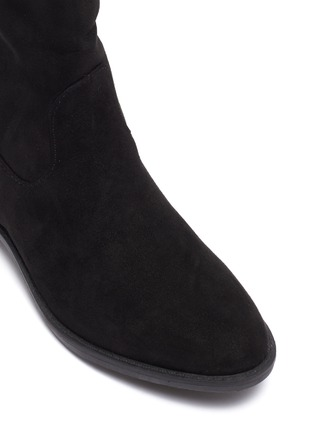 Detail View - Click To Enlarge - SAM EDELMAN - 'Pia' stud suede kids knee high boots