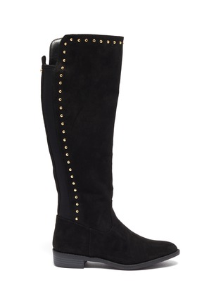 Main View - Click To Enlarge - SAM EDELMAN - 'Pia' stud suede kids knee high boots