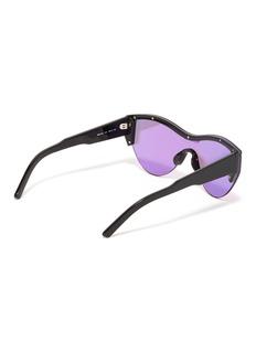 Balenciaga Contrast browline mirror acetate cat eye sunglasses
