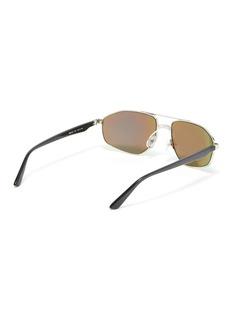 Balenciaga Mirror metal narrow aviator sunglasses