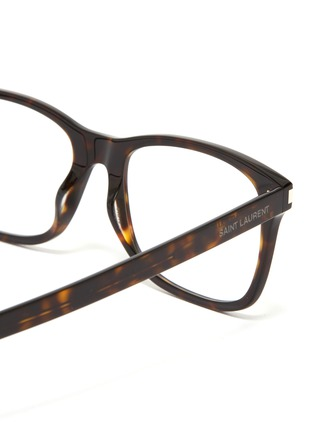 Detail View - Click To Enlarge - SAINT LAURENT - Tortoiseshell acetate square optical glasses