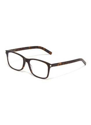 Main View - Click To Enlarge - SAINT LAURENT - Tortoiseshell acetate square optical glasses