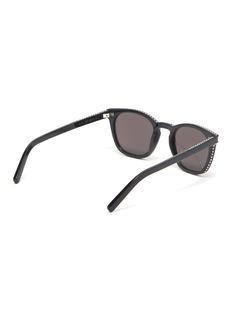 SAINT LAURENT Stud acetate square sunglasses