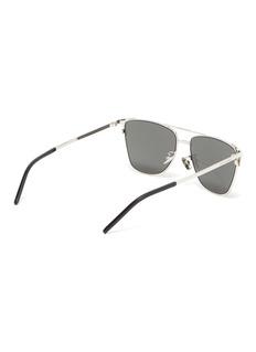 SAINT LAURENT Metal square sunglasses