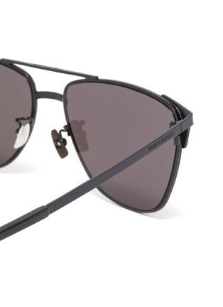 Detail View - Click To Enlarge - SAINT LAURENT - Metal square sunglasses