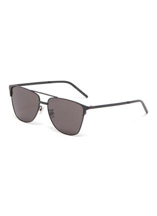 Main View - Click To Enlarge - SAINT LAURENT - Metal square sunglasses
